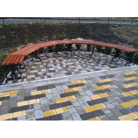 Скамейка полукруглая
